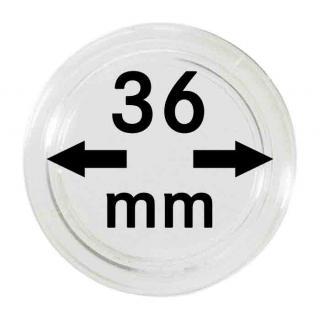 10 LINDNER Münzkapseln / Münzenkapseln Capsules Caps 36 mm 2250036P