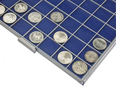 SAFE 6120 BEBA Filzeinlagen BLAU für Schubladen Schuber 6110 Münzboxen 6610 Maxi Münzkasten - Vorschau 1