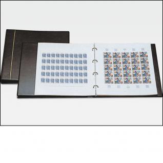 SAFE 1250 Bogenalbum Schwarz mit 10 Blättern 6030 = 20 große Briefmarkenbogen Innenmaß 320 - 320 mm
