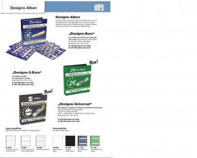 5 x SAFE 8562 Ergänzungsblätter Münzhüllen Designo 12 Fächer für Münzen bis 40 mm - Ideal für 10 - 20 Euro Münzen - Vorschau 2