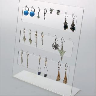 SAFE 73580 Acrylglas Design Schmuckständer Ständer 250 x 200 x 60 mm Für 24 Ohrringe & Anhänger