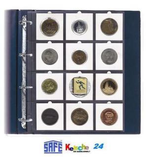 SAFE Münzhüllen Münzrähmchen 67x67 A4 Format 5 St - Vorschau