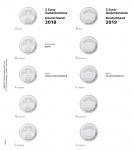 1 x LINDNER 1505-7 Vordruckblatt + K3 Karat Blatt - 2 EURO Deutsche Bundesländer Berlin 2018 und 70 Jahre Bundesrat 2019