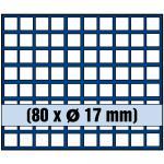 1 x SAFE 6317 SP Tableaus / Einsätze SMART mit 80 eckigen Fächern 17 mm 1 Cent Pfennig