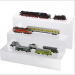 SAFE 5265 ACRYL Präsentations-Treppen Deko Aufsteller 3 Stufen Für Modellbau Eisenbahn Modelle bis H0