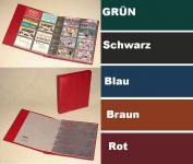 KOBRA G28 Schwarz Telefonkartenalbum Visitenkartenalbum mit 10 Blättern G28E Für 80 Telefonkarten Visitenkarten