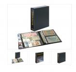 LINDNER 3537E Publica M Ringbinder Album Banknotenalbum + Schutzkassette + 20 Hüllen Mixed 2er / 3er Teilung