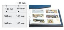 5 x SAFE 6010 Ergänzungsblätter WEISS Postkarten Ansichtskarten Fotos 6 Taschen 160 x 108 mm für 12 Karten