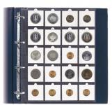 10 Hartberger 8311 Münzblätter SUPER 20 Felder für Münzrähmchen 50 x 50 mm