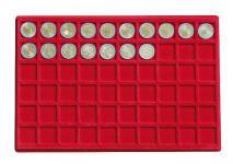1 x LINDNER 2329-60 Münztableaus / Einlagen 60 Münzen bis 27mm für 2 Euromünzen Presidentail Dollar