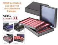 LINDNER 2365 NERA XL Münzkassetten Kassetten Sammelkassetten mit 3 Einlagen nach FREIER WAHL