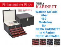 LINDNER 2376 NERA KABINETT Sammelkassetten mit hellem Ablagefach + 6 Schubladen in 4 Farben über 160 Modellen FREIE AUSWAHL