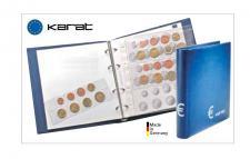 LINDNER 1106ME-B KARAT Münzalbum EURO CLASSIC + 10 Münzblättern K8 für 30 Kursmünzensätze + 10 neutrale Euro KMS Vordruckblätter