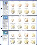 1 x Lindner 8450-4 Vordruckblatt + Münzblatt KMS Frankreich / Griechenland / Irland EURO COLLECTION