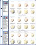 1 x Lindner 8450-10 Vordruckblatt + Münzblatt KMS Österreich / Portugal / Spanien EURO COLLECTION