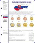 1 x Lindner 8450-19 Vordruckblatt + Münzblatt 3 KMS Slowakei Kursmünzensätze EURO COLLECTION