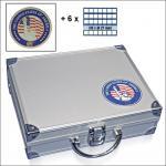 SAFE 230 - 6327 STANDARD ALU Münzkoffer SMART USA 6 Tableaus 210 quadartische Fächer 27 mm US Sacajawea - Presidential Dollar