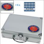 SAFE 231 - 6329 STANDARD ALU Münzkoffer Frankreich SMART mit 6 Tableaus für 10 Euro Frankreich der Regionen 2010 -2012