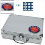 SAFE 231 - 6326 STANDARD ALU Münzkoffer SMART Frankreich 6 Tableaus 270 Fächer 26 mm 2 Euro Münzen