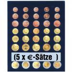 SAFE 6340 Nova Münzboxen - Schubladenelemente 5 komplette EURO Kursmünzensätze KMS 1, 2, 5, 10, 20, 50 Cent - 1, 2 Euro Münzen