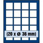 SAFE 6336 Nova Münzboxen - Schubladenelemente 20 eckige Fächer 36 mm für 5 Euro DM Mark der DDR Gedenkmünzen in Münzkapseln