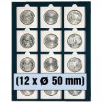 SAFE 6350 Nova Münzboxen - Schubladenelemente 12 eckige Fächer 50 mm Münzrähmchen Octo - Carree Münzkapseln Quadrum Münzkapseln