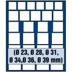 SAFE 6368 Nova Münzboxen - Schubladenelemente MIXED 27 eckige Fächer für Münzen bis 39 mm - Ideale universelle Startermünzbox