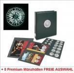 SAFE 7340/8 PLUS PREMIUM EURO MÜNZALBUM ÖSTERREICH 5 EURO Münzen + 5 Ergänzungshüllen FREIE WAHL