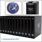 SAFE SET 7420 - 7424 - 5x komplette PREMIUM EURO JAHRGANGS MÜNZALBEN Kursmünzensätze KMS farbige Vordrucke Münzhüllen 1999 - 2005