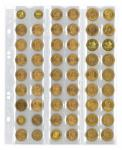5 x LINDNER MU54R Multi Collect Münzblätter Münzhüllen 54 Taschen für Münzen bis 27 x 27 mm + roten ZWL