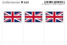 6 x LINDNER 660 Großbritannien Flaggensticker Flaggen Signetten Sets zum aufkleben oder einstecken