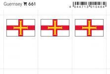 6 x LINDNER 661 Guernsey Flaggensticker Flaggen Signetten Sets zum aufkleben oder einstecken