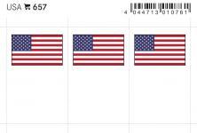 6 x LINDNER 657 USA Flaggensticker Flaggen Signetten Sets zum aufkleben oder einstecken