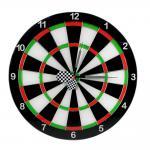 MODERNE GLAS WANDUHR DARTSCHEIBE - Mit Dartpfeilen - Dart-Uhr - Dartboard