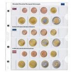 1 x Lindner 1108-19 Karat Vordruckblatt EURO Slowakei / Estland / Lettland Kursmünzensätze KMS
