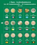 SAFE 7341-11 Premium Münzblätter Ergänzungsblätter Münzhüllen 7393 mit Vordruckblättern 2 Euro Münzen Gedenkmünzen 2013 - 2014