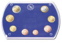 """SAFE 7901 Glasklare Stapelbare Acryl Münzetuis Münzenetuis Münz Etuis"""" Vista Libra Blau """" für Euro KMS Kursmünzensatz 1 Cent - 2 Euro"""
