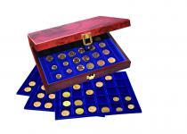 SAFE 5783 Premium WURZELHOLZ Münzkassetten 3 Tableaus 6341 - 60 Fächer Für 1 US Dollar $ Silver Eagle Silber Gedenmünzen
