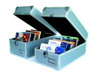 SAFE 163 ALU Sammel Koffer für CD's DVD CD ROM Blueray Musik Kino Spiele