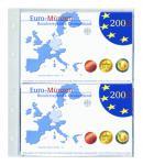 5 x SAFE 874 Coin Compact Ergänzungsblätter Spezialblätter Münzhüllen 1 Tasche 165 x 215 mm Für 2 x Deutsche Euro KMS PP bis 2014