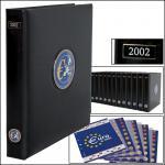 SAFE 7421 PREMIUM EURO ANNO JAHRGANGS MÜNZALBUM + Vordrucke Kursmünzensätze 2002