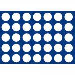1 x SAFE 5869-1 Blaue Schubladen 35 Münzen bis 32, 5 mm Für die Kassette 6590 & 6591 Ideal für 2 Euro Münzen in Kapseln & Deutsche 10 & 20 Euro