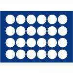 1 x SAFE 5867-1 Blaue Schubladenfür die Sammelschatulle 6590 & 6591 24 Münzen bis 38 mm für 10 & 20 Euro Münzen in Münzkapseln 32, 5 PP