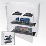 SAFE 5247 Grosse Acrylglas Design Viitrinen Setzkasten Box 320 x 320 x 110 mm 3 Ebenen abschließbar Universal Für Modellbau Mini Trucks Autos KFZ Modelle