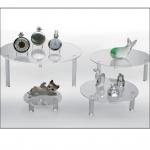 SAFE 5283-1 4x Set 5280 + 5281 + 5282 + 5283 Runde ACRYL Präsentationsteller Deko Aufsteller 100 - 240 mm Für Porzellan - Glas - Ton - Keramik Figuren Tassen Antiquitäten