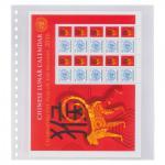 10 x LINDNER 833P Klarsichthüllen Banknotenhüllen 1 Tasche Streifen 240 x 290 mm mit weißen Zwischenblättern