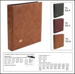 SAFE 521-6 Hellbraun - Braun Universal Album Ringbinder (leer) zum selbst befüllen Platz für bis zu 60 Blätter