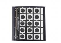10 SAFE 435 Münzhüllen Ergänzungsblätter A4 + Beschriftungsfeld Für 15x Münzrähmchen 50x50mm - Lindner Octo - Carree & Quadrum Münzkapseln