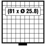 SAFE 6209 BEBA Schuber Schubladen Münzschuber 81 quadratische Fächer 25, 8 mm für den MINI Münzkasten