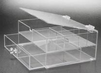 SAFE 5263 Acrylglas Design Schmuckkästchen Schubladen Element Kasten - Ideal Für Uhren Schmuck Ketten Ringe Ohrringe B 165 x L 215 x H 100